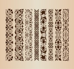 Border Decoration Elements Patterns