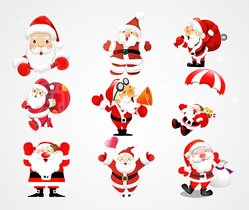 Santa Claus Vector Illustration (Free)