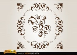 Loops and swirls circle decoration