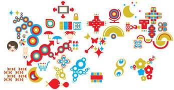 Free vector coloured shapes pack
