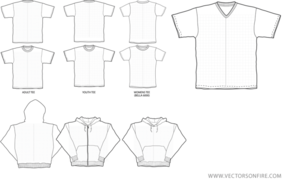 T-shirt and Hooded Sweater Templates