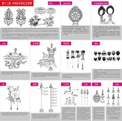 Tibetan Buddhist Symbols And Objects Figure Of Twelve Handheld Objects For Identification And Etiquette