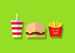 Free Burger Vector with Fries