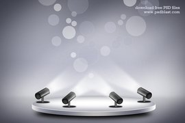 Product Promotion Stage Lighting Background (PSD)