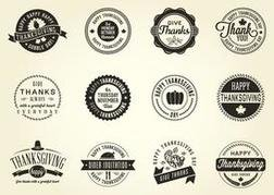 Free Vector Thanksgiving Badges