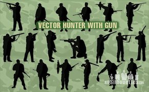 67 Vector hunter with gun