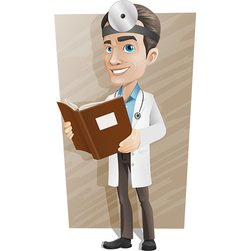 Male Doctor Vector Character