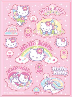 Vector pink kitty and the Unicorn
