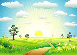 Free Vector Morning Nature