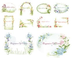 South Korean-style lace Vector material Series