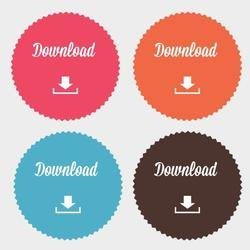 DOWNLOAD BUTTONS VECTOR PACK.eps
