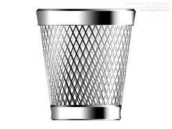 PSD trash can icon