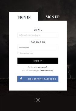 SignUP Form - Free PSD