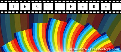 Film Stripe On Colorful Rainbow
