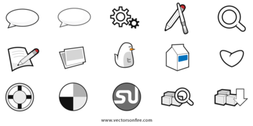 15 Social Site and Web Interface Icons