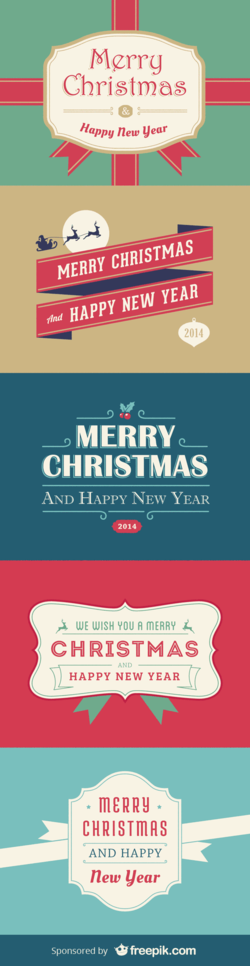5 Christmas And New Year Cards