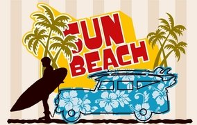 Gorgeous Sun-Beach Graphic Design