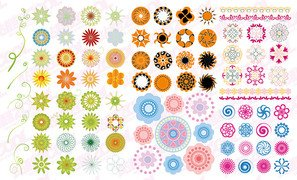 Circular pattern vector material over fashion