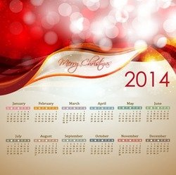 2014 New Year Calendar Illustration
