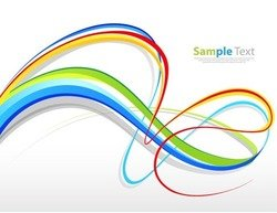 Abstract Colorful Curves Background
