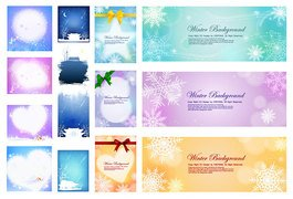 Several nice winter background