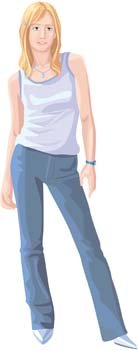 Jeans Girl Vector 22