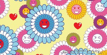 Smiling Vector Flowers