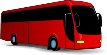 Red Travel Bus