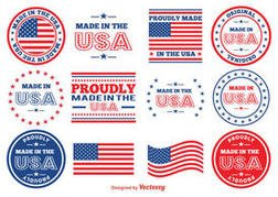 Made in the USA Vector Stamps