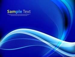 Blue Abstract Design Waves Background