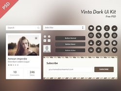 Vinta Dark Ui Kit