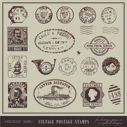 Vintage Postcards And Stamps 04