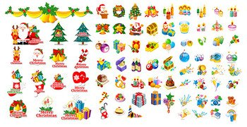 3 sets of classic Christmas theme icon