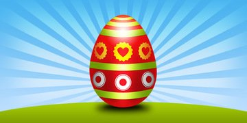 Easter egg PSD template