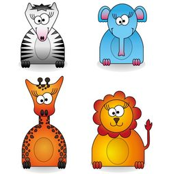 Zoo Animals Free Vector Pack