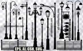 28 Free Vector street lamps