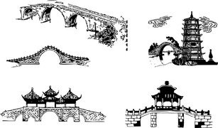 Chinese Traditional Architectural Arch Bridge