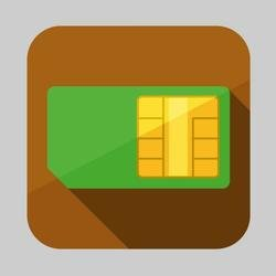 SIM CARD VECTOR ICON.eps