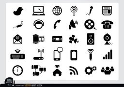 Multimedia Flat Icon Pack