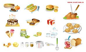 Exquisite kitchen and other food icon