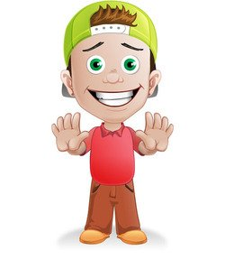Boy Vector Character with a Hat