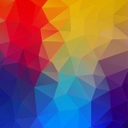 Abstract Geometric Shapes Colorful Background