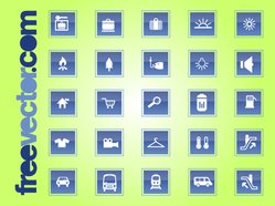 Travel & Transport Square Icon Set