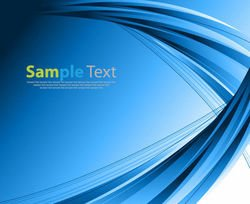 Blue Background with Abstract Curvy Lines