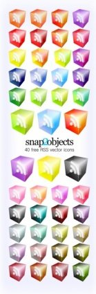 RSS Icons Translucent 3D Look