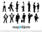12 Free Vector Businessmen Silhouettes