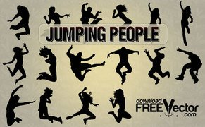 16 Jumping people