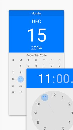 Android Lollipop Date & Time Pickers (PSD)