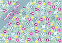 Background card design with flowers