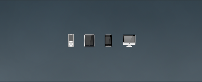 iPod, iPad, iPhone, and iMac Icons